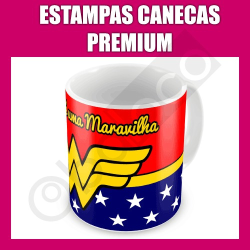Estampas Canecas Premium - Corel Illustrator Photoshop