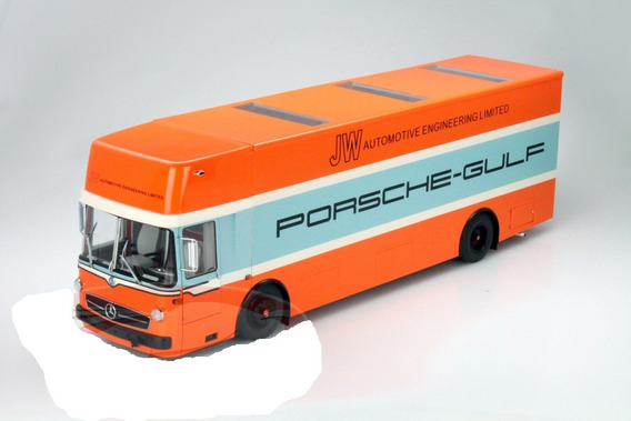 Miniatura Caminhão Porsche Gulf Transporter Schuco 1/18