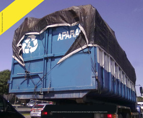 Lona Tela Preta Proteção Caminhão Caçamba Apara Preta 6x2 M