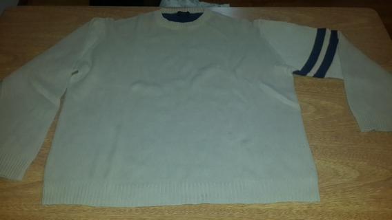 Sweater De Hilo Hombre Talle L Color Beige