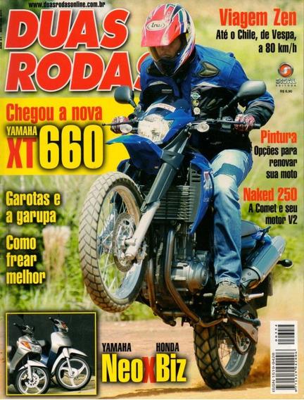 Duas Rodas N°354 Mar/2005 Yamaha Xt 660 Neo Honda Biz Comet