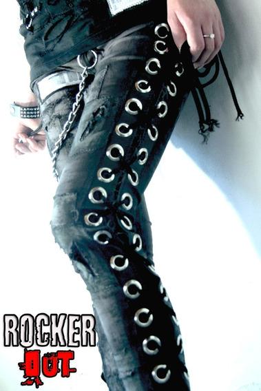Jean Acordonado Elastizado Hombre - Mujer / Rokcer Out