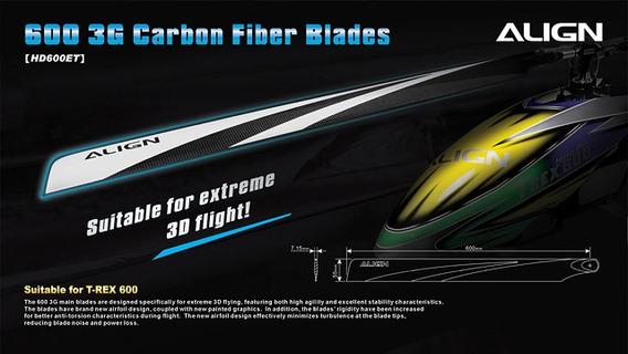 Hd600e 600 Carbon Fiber Blades