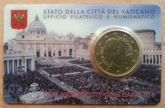 Vaticano 2015 Coin Card Oficial Nº 6 Moneda 50 Cts Francisco