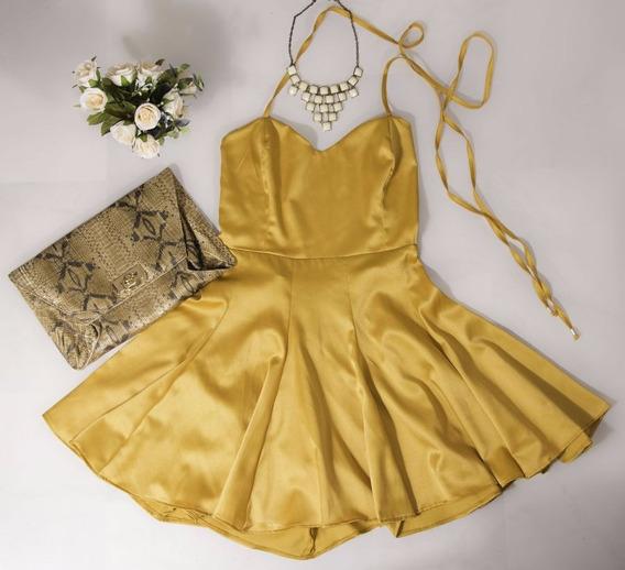 Vestido Feminino Rodado Princesa Cintura Marcada Curto