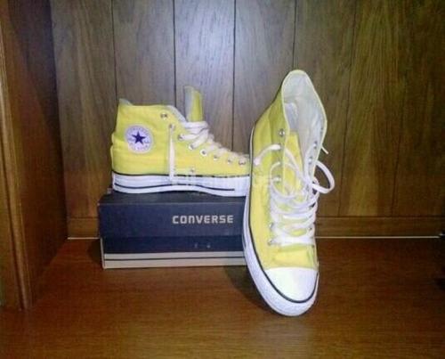 zapatillas converse amarillas