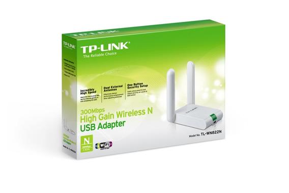 Placa De Red Usb Tp-link Tl-wn822n 300mbps Wireless N 2 Ant