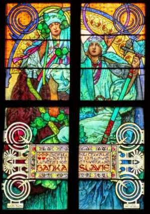 Lámina 45 X 30 Cm Vitral De Alfons Mucha En Catedral Praga Mercado Libre
