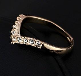 Anel Princesa - Aro 13 Folheado A Ouro Rosê 18k