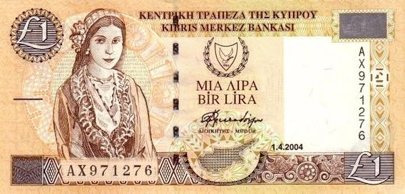 Grr-billete De Chipre 1 Pound 1997 - 2004