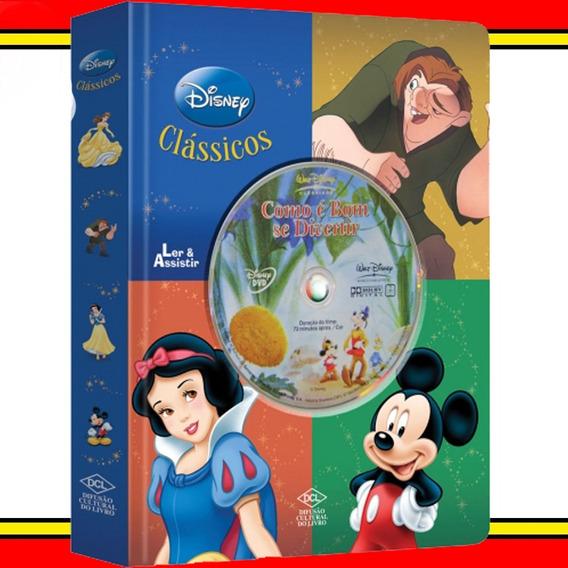 Livro Infantil Didático Dvd Disney Como É Bom Se Divertir