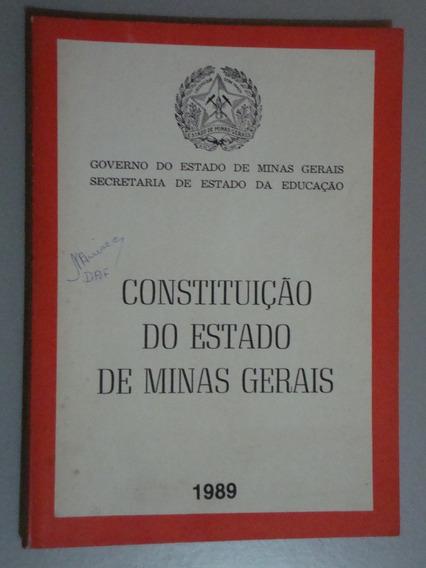 Livro Constituição Do Estado De Minas Gerais