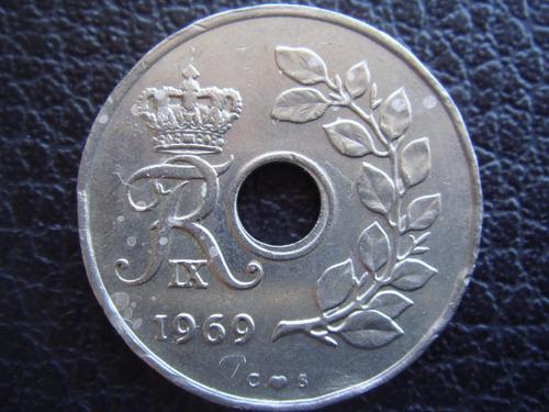 Dinamarca - Moneda De 25 Ore, Año  1969  - Muy Bueno