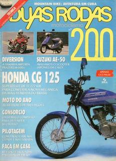 Duas Rodas N°200 Suzuki Ae-50 Honda Cg 125 Today Xj 600s
