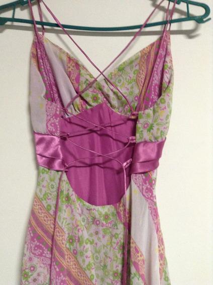 Vestido Longo Florido - Pra Festas Temáticas Ou Luais
