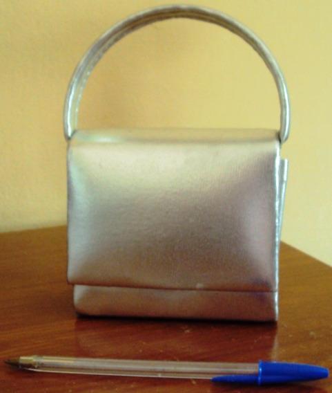 004 Rbl- Bolsa Social- Mini Bolsa Prata- Moda Atual