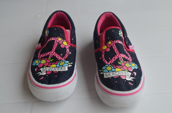 Tênis Infantil Skechers Navy Fashion