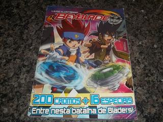 Livro Álbum Ilustrado Beyblade Falta 1 Figurinha