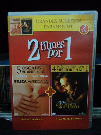 Dvd-duplo:2 Filmes:beleza Americana+uma Mente Brilhante