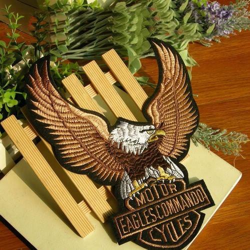 Patch Bordado Eagle Águia Moto Costas