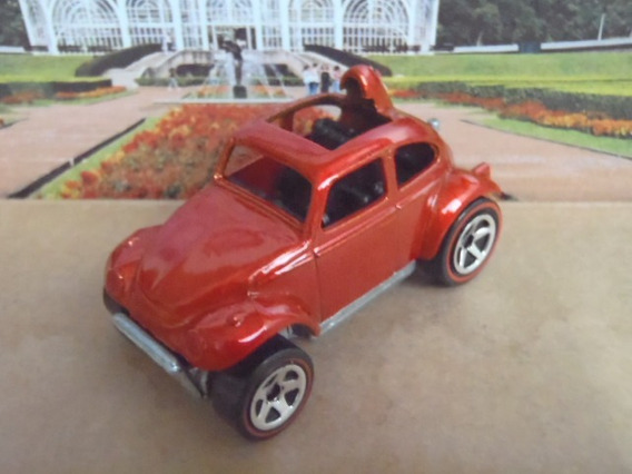 R$18 No Lote Hot Wheels Baja Beetle Fusca 2006 Red Lines G58