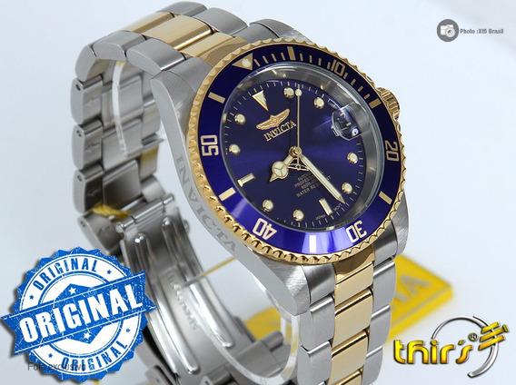 Invicta Automatico 8928ob Duo Color Original Lindo Azul