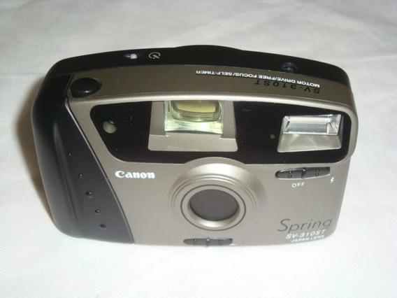 Camera Analogica Canon Spring Sv-310st Como Nova Arte Som