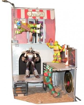 Tartarugas Ninja Playset Pop Up Alley Seu Filho Merece