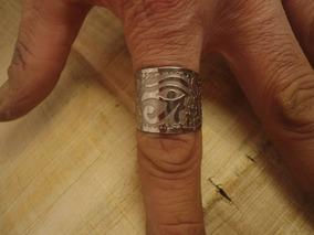 Anel Olho De Horus E Cruz Ansata Ankh - Egito Antigo