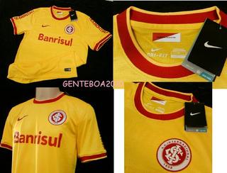 Camisa Internacional Inter Oficial 3 Nike Amarela Copa 2014