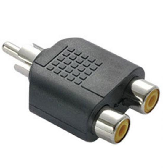 Adaptador Plug Rca X 2 Jack Rca Femea C/10 Unidades