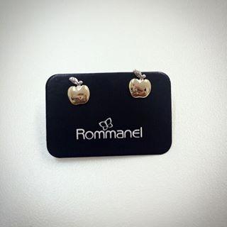 Brinco Rommanel Maçã Folheada Ouro 18k, Prata Rhodium 520162