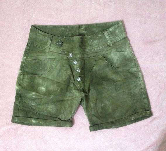 Short Jeans Verde Militar Monnari Jeans Verão 2018 - Tam. 38