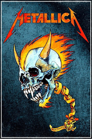 Poster Banda Metallica Grande 50x75cm Rock Cartaz Decorativo