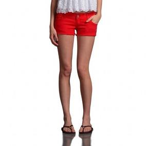 Shorts Jeans Vermelho Abercrombie & Fitch - Original!! Novo!