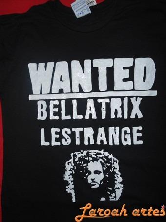 Camiseta Harry Potter Hp7 Bellatrix Lestrange Lana Camisetas