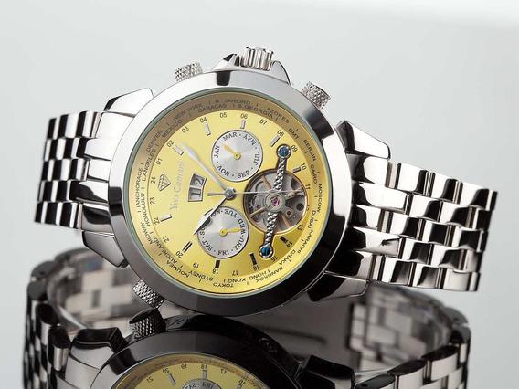 Relógio Yves Camani Worldtimer Silver Yellow