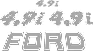 Adesivos Ford F1000 4.9i Kit Completo Com 04 Adesivos