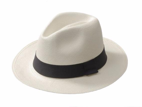 Sombrero Panamá Original Paja Toquilla Ecuatoriana S050
