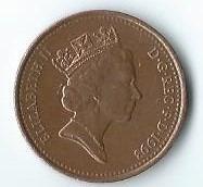 1 Cts. Gran Bretaña. 1.993