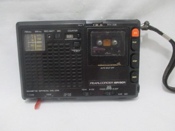 Antigo Radio Gravador Olympus Pearlcorder Sr501 Não Funciona