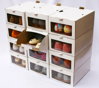 Caja Organizadora Para Zapatos Mujer ..pack 12 Unidades