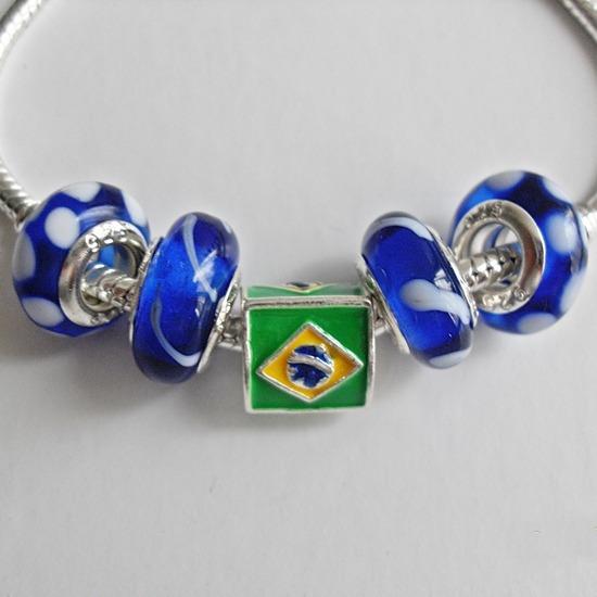 Pulseira Tipo Pandora Banhada A Prata Esterlina 925 Brasil