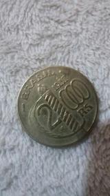 Moeda 2000 Réis Banhada A Ouro