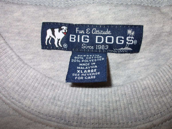 Sudadera, Big Dogs, Xl, Gris, $900