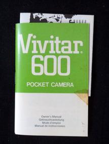 Vivitar 600 Câmera Folheto Explicativo