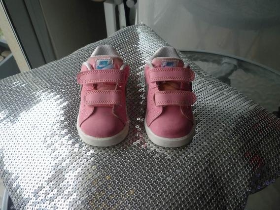 Zapatillitas Nike Rosa Y Plateada T 17