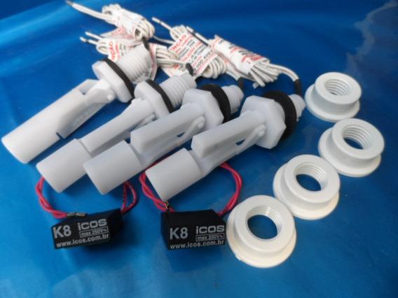 4 Sensores Nível Água Orig Eicos+ 2 Filtro K8+ 4 Adpt P/ Pvc