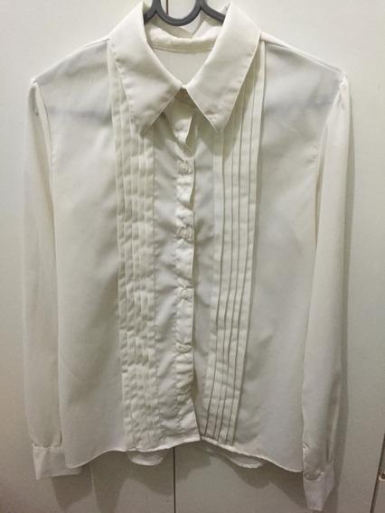 Camisa Toque De Seda Branca