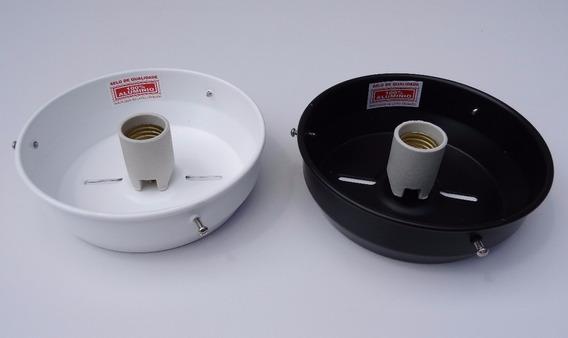 Kit 2 Bases Em Alumínio Para Globo Boca 15cm Plafon Suporte